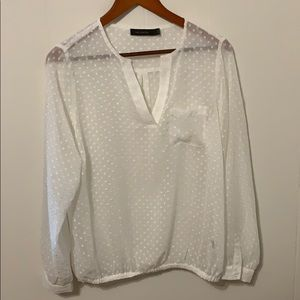 The Limited White Sheer Blouse